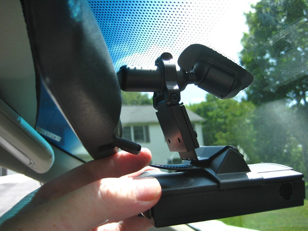 Person mounting a radar detector