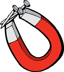 Logo clipart of a magnet